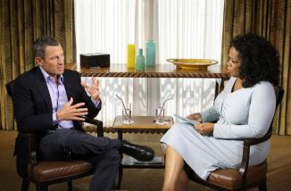 Oprah Winfrey with Lance Armstrong in Austin - Texas