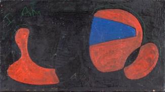 Armaroli, Senza Titolo (I am), tecnica mista su tela, 20x35 cm