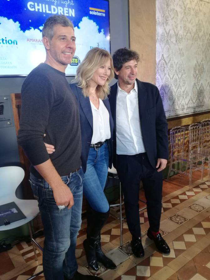 Francesco Toldo, Natasha Stefanenko e Demetrio Albertini