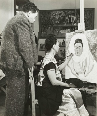 Bernard Silberstein (1905–1999), United States, Diego Rivera Watching Frida Kahlo Paint a Self Portrait, circa 1940, gelatin silver print, Cincinnati Art Museum� Gift of the Artist, 1986.570, © Edward B. Silberstein.jpeg